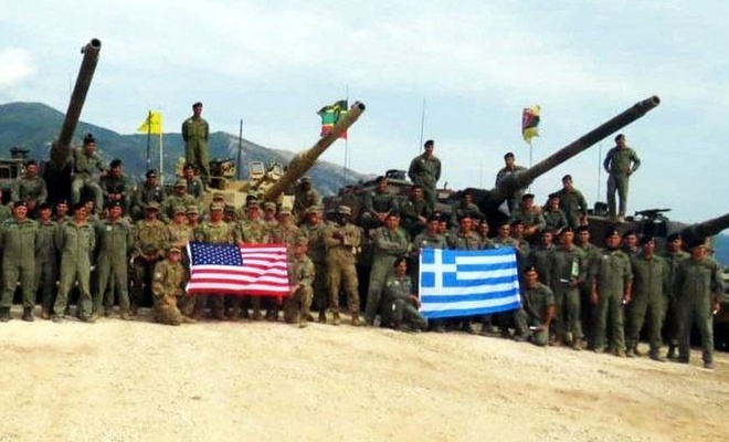Yunanistan ve ABD'den Girit'te ortak tatbikat