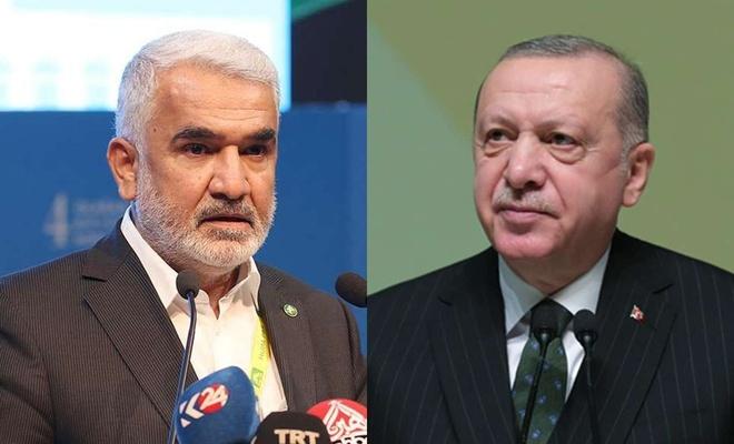 Erdogan li Yapiciogluyê ku ji Serokatîya Giştî ya HUDA PARê hat hilbijartin gerîya û ew tebrîk kir