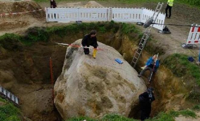 Çiftçinin tarlasından 1 milyar yıllık kaya çıktı