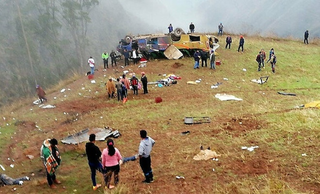 Peru'da otobüs uçuruma yuvarlandı: 27 ölü, 16 yaralı