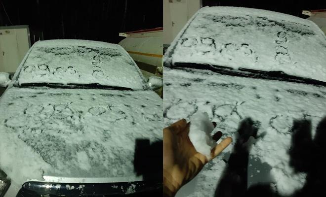Gümüşhane'de mayıs ayında etkili olan kar şaşırttı