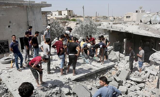 Baas rejimi ve Rusya İdlib'i vurmaya devam ediyor: 20 ölü
