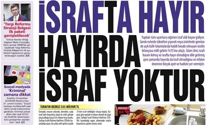 İSRAFTA HAYIR  HAYIRDA İSRAF YOKTUR