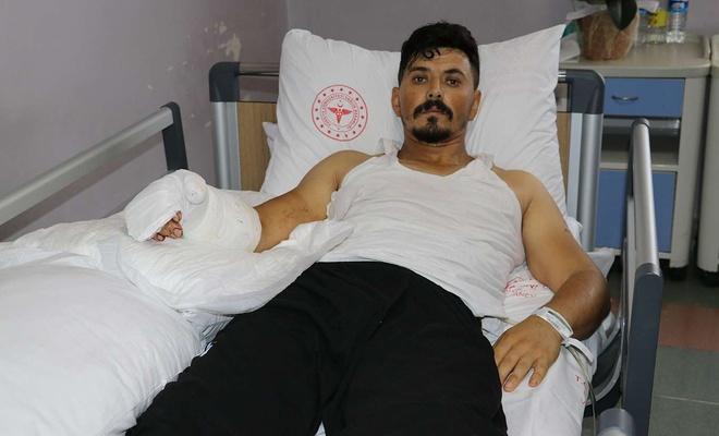 Kopan eli yerine dikilen işçi sağlığına kavuştu