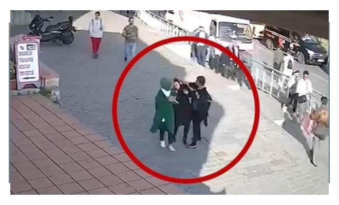 Karaköy'de başörtülülere saldıran kadına ceza!