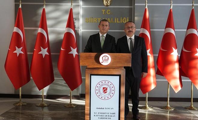 Bakan yardımcısı Tancan Siirt'i ziyaret etti.