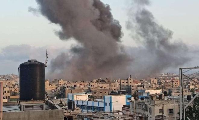 İşgal rejimi Gazze'de güvenlik binalarını bombaladı