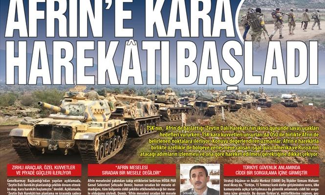 Afrin`e kara harekâtı başladı