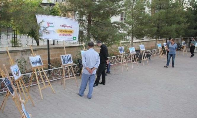 Midyat`ta Kudüs temalı resim sergisi açıldı