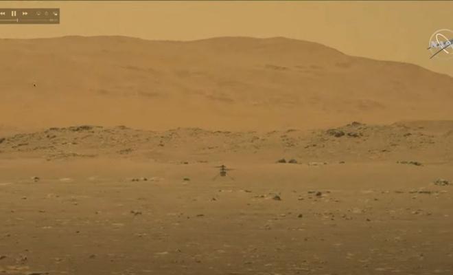 NASA: İnsanların Mars'ta helikopterle uçması imkansız