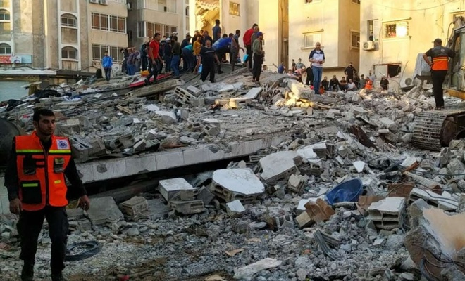 İşgal rejimi Gazze'ye yaptığı son saldırıda 5 şehid 40'tan fazla yaralı var