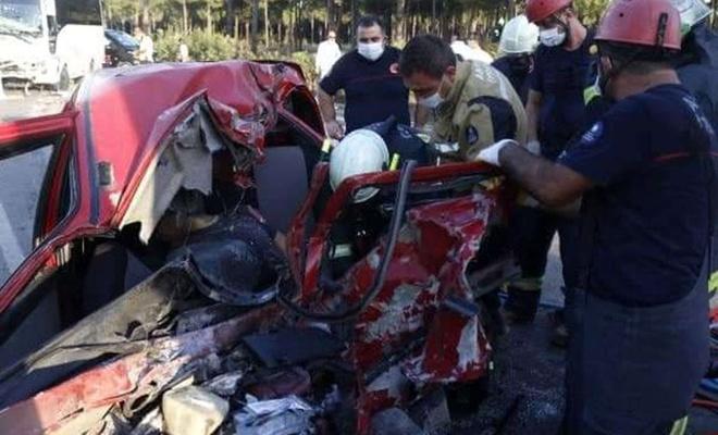 Antalya'da meydana gelen kazada 1 kişi hayatını kaybetti