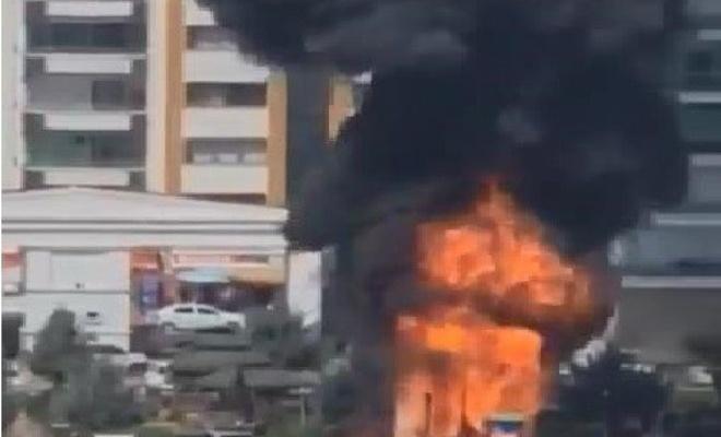 Diyarbakır'da korkutan çocuk parkı yangını