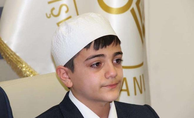 14 yaşındaki Kur'an aşığı çocuk 8 ayda hafız oldu
