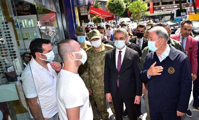 Millî Savunma Bakanı Akar Malatya'da inceleme ve denetlemelerde bulundu