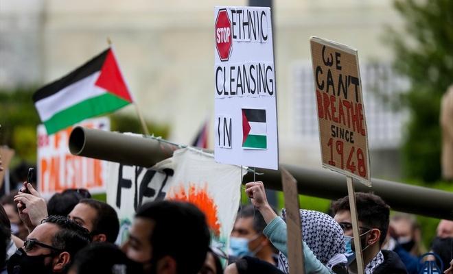 ABD'de Filistinli Müslümanlar için destek yürüyüşü