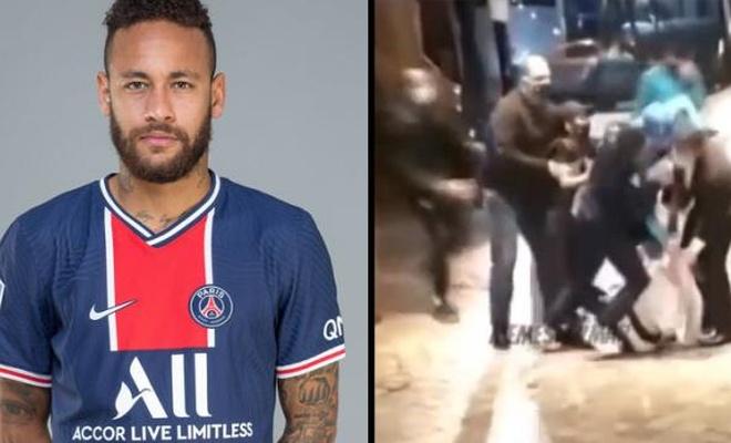 Neymar'ı darp edip ayakkabılarını çaldılar!