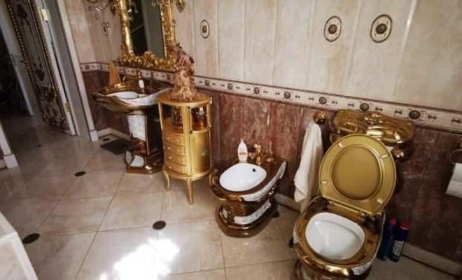 Rüşvetçi trafik polisi evinin tuvaletlerini bile altınla kaplatmış