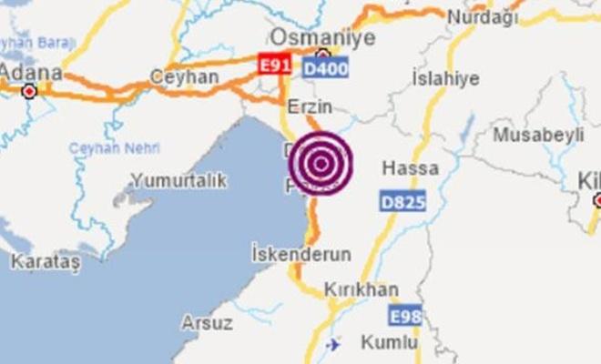 Hatay'da 3.7 büyüklüğünde deprem   Son depremler