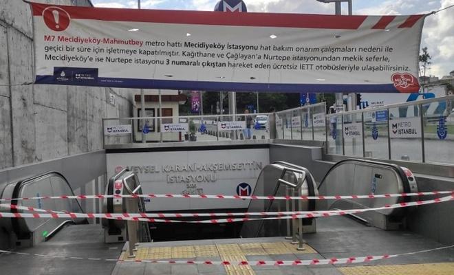 İstanbul metrosunda klima patladı
