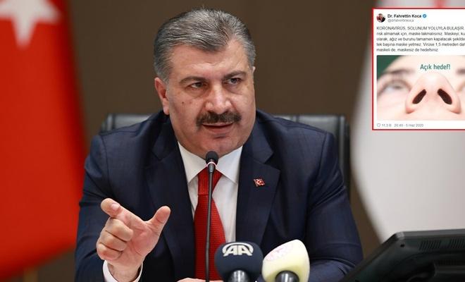 Sağlık Bakanı Koca'dan mesafe uyarısı: Maskeli de, maskesiz de hedefsiniz
