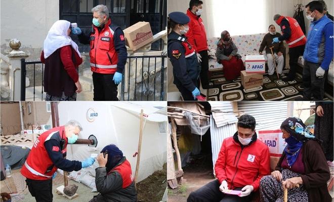 Elazığ'da evinde çıkamayan yaşlılara yönelik yardım çalışmaları devam ediyor