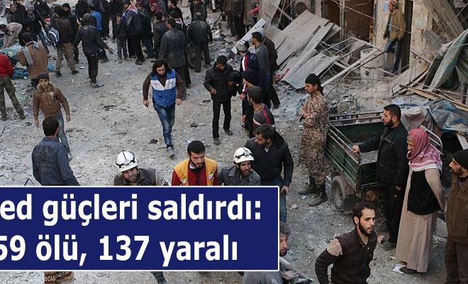 Esed güçleri saldırdı: 59 ölü, 137 yaralı
