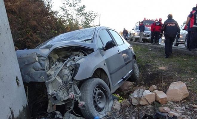 Meydana gelen kazada 1'i bebek 2 ölü, 2 yaralı
