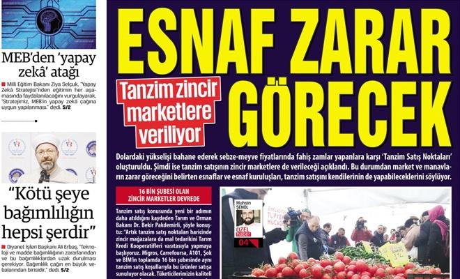 Tanzim zincir marketlere veriliyor  ESNAF ZARAR GÖRECEK