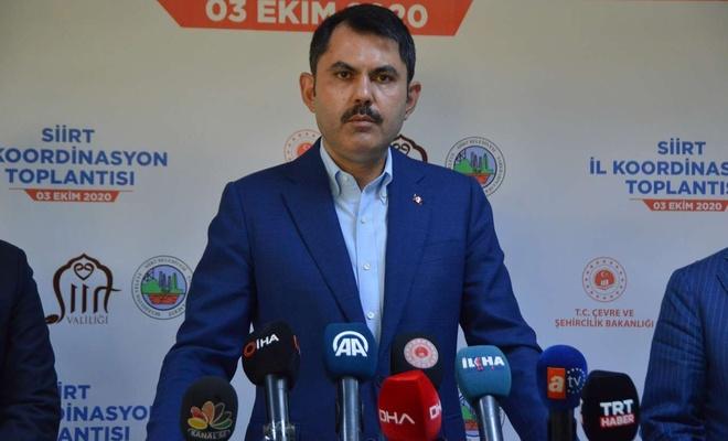 """Bakanı Kurum: """"Siirt'i ihya edecek kentsel dönüşüm çalışması başlatıyoruz"""""""