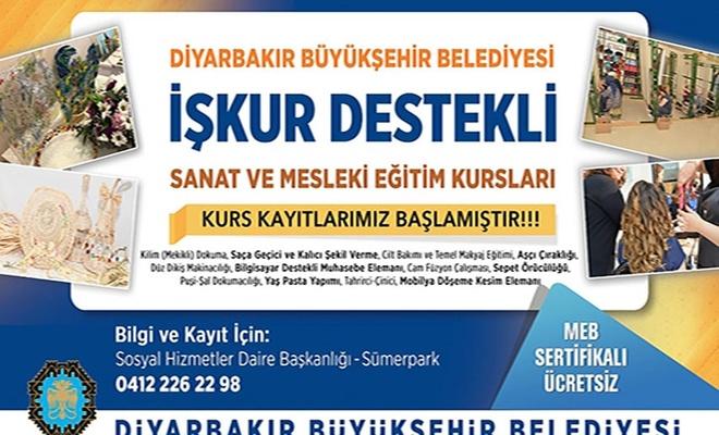 Diyarbakır Büyükşehir Belediyesi İŞKUR iş birliğiyle 12 farklı branşta kurs açıyor