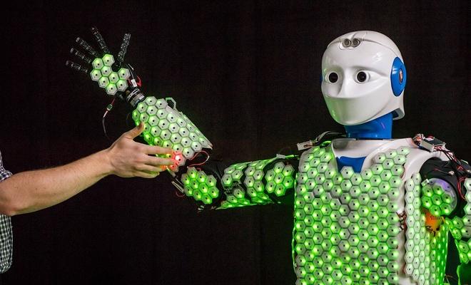 Yapay deriye sahip robotlar artık hissedebiliyor