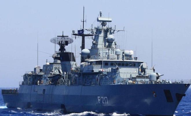 Alman savaş gemisi 'Bayern' de Pasifik yolunda