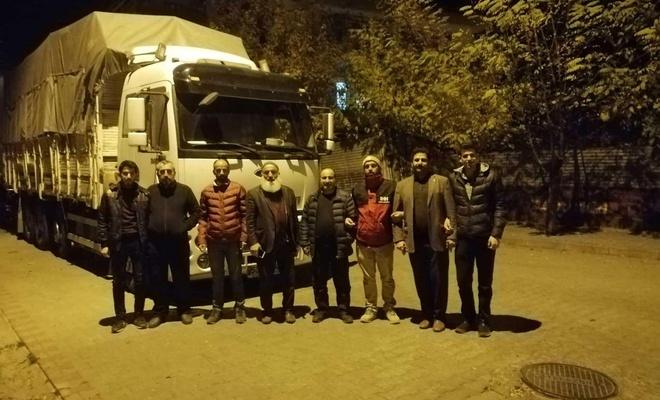 Bingöl'den Suriyeliler için yardım TIR'ı