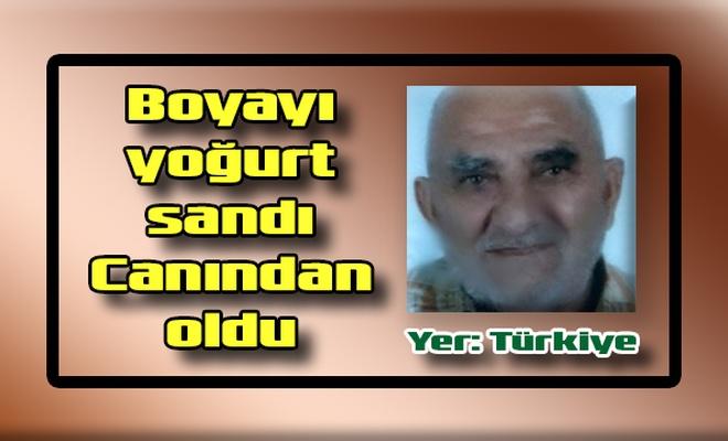 Boyayı yoğurt sandı Canından oldu Yer: Türkiye