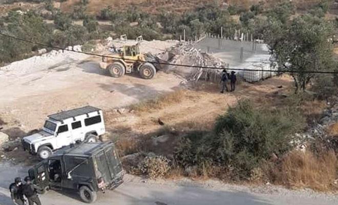 Siyonist işgal rejimi Filistinlilerin inşaat yapmasına engel oluyor
