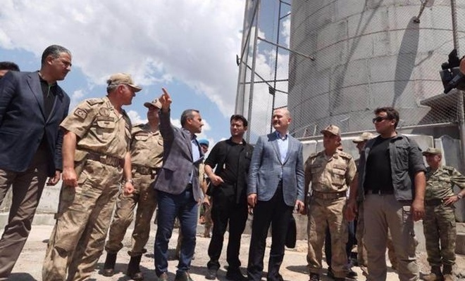 İçişleri Bakanı Soylu Pülümür`de incelemelerde bulundu