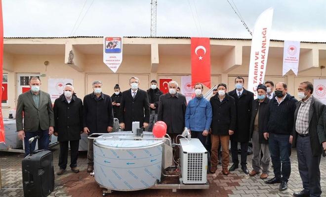"""Bingöl'de üreticilere """"Süt Soğutma Tankı"""" dağıtıldı"""