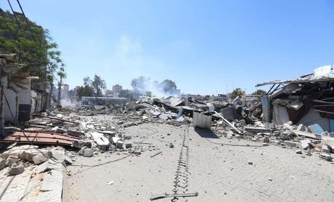 Terör rejimi Filistin İçişleri Bakanlığı binasını vurdu