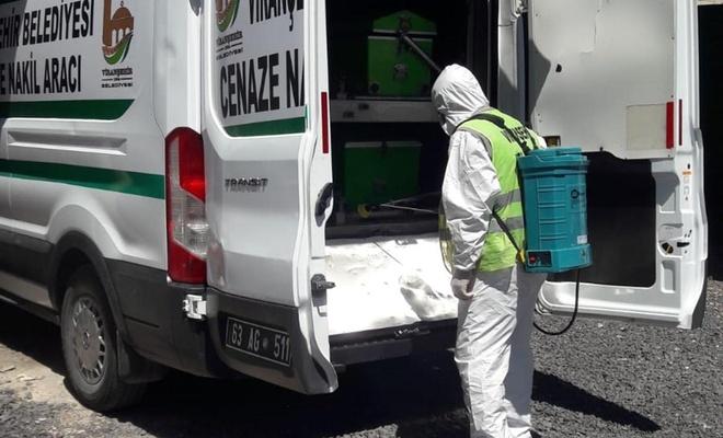 Viranşehir'de dezenfekte çalışmaları devam ediyor