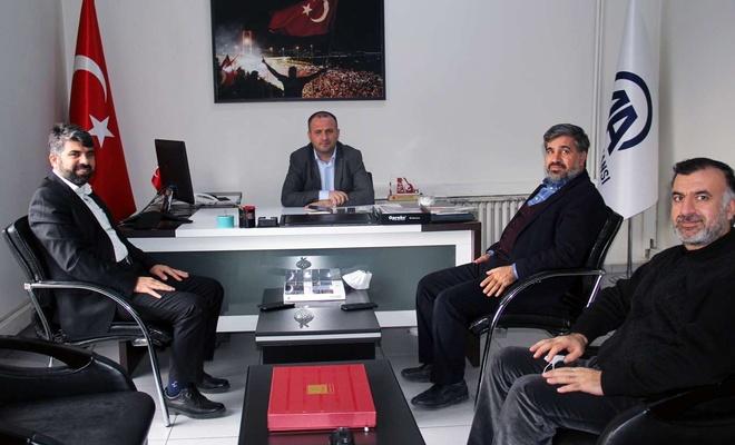 HÜDA PAR Diyarbakır İl Başkanı Dinç'ten AA Diyarbakır Bölge Müdürlüğüne ziyaret