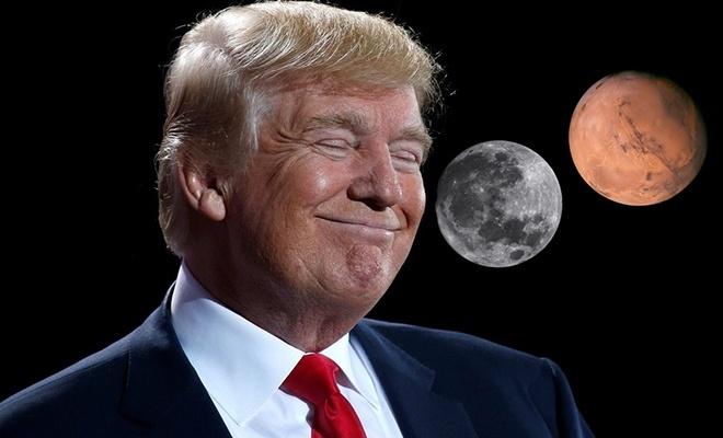 Trump: Ay, Mars'ın bir parçası!