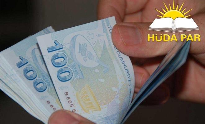 """HÜDA PAR'dan """"asgari ücret"""" açıklaması"""