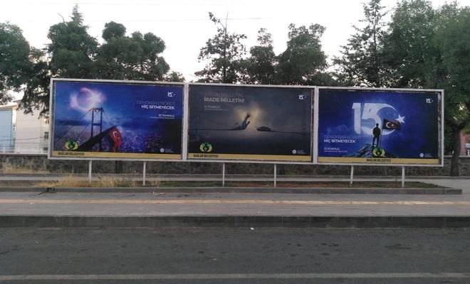 Diyarbakır'da 15 Temmuz destanı billboardlarla yansıtıldı