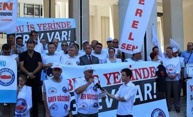 İzmir Büyükşehir Belediyesi`nde Grev!