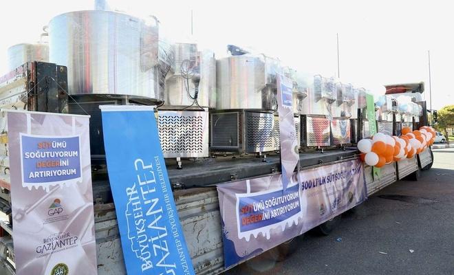 Gaziantep'te süt üreticilerine süt soğutma tankı dağıtıldı
