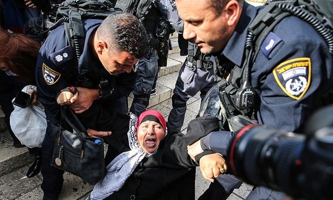 İşgal polisinden göstericilere orantısız şiddet