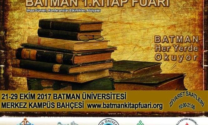 Batman`da onlarca yazarın katılımıyla kitap fuarı açılıyor
