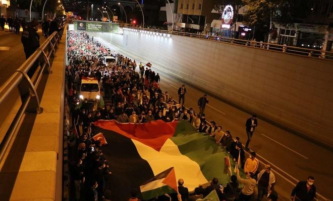 Ankara'da mahşeri kalabalık siyonist terörü lanetledi