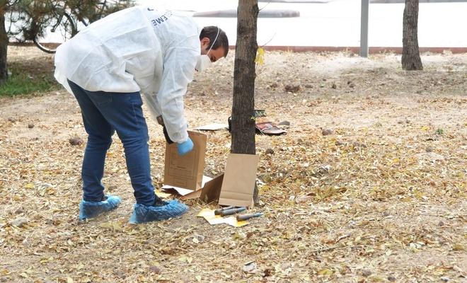 Konya'da belediye işçisi temizlik yaparken uçaksavar mermileri buldu